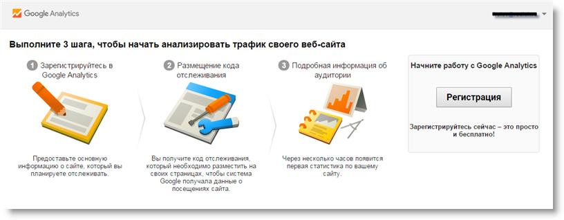 Завершение регистрации в Google Analytics