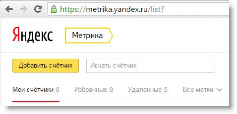 Сервис Яндекс.Метрика
