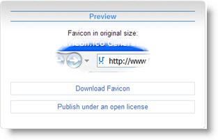 Предварительный просмотр значка Favicon