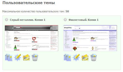 Пользовательские темы в магазинах shop2you.ru